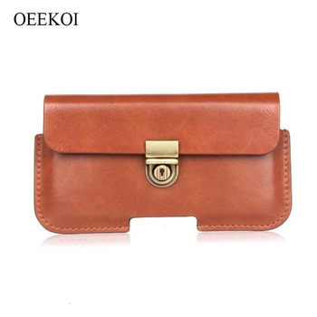 OEEKOI PU Leather Belt Clip Pouch Cover Case for Overmax Vertis 5510 Aim/ETSO 5 Inch image