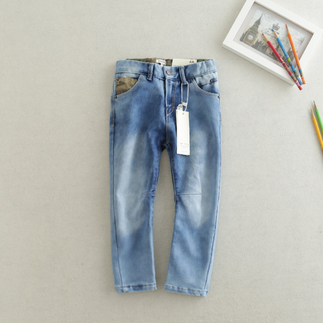 The new jeans washing children wear white slacks all-match fashion style special offer free shipping