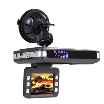 "Best 2.0"" LED 2 In1 Car dvr Anti laser Radar Detector VGR dvr dash video camera FHD 720P View Angle full band radar detector"