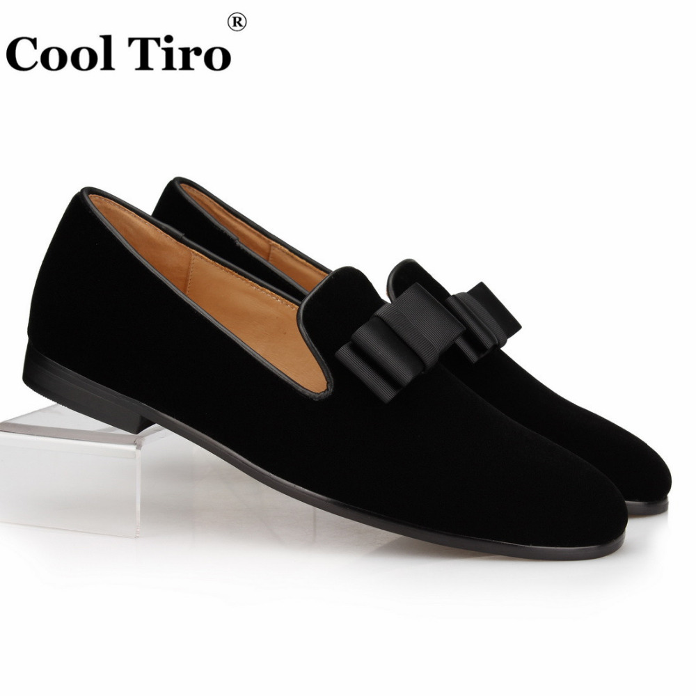 Black Velvet Shoes With Bow
