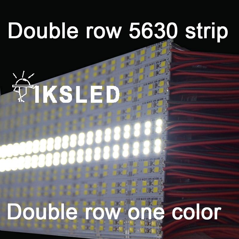 5pcs 10pcs Led 5630 Double Row Double Color White+warm White 5630 Rigid Strip Hard Rigid Bar Light DC12V 168pcs Led Per Meter