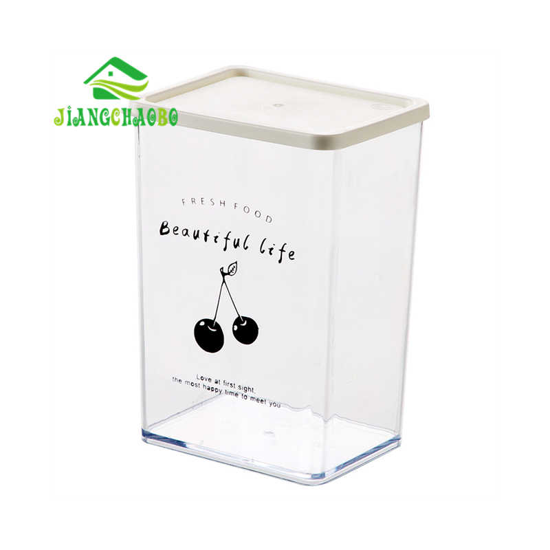 JiangChaoBo Transparente Multi-Caixa De Armazenamento de grãos de Cozinha Caixa De Armazenamento Lanche Latas Latas Seladas Tanque de Armazenamento De Comida De Plástico