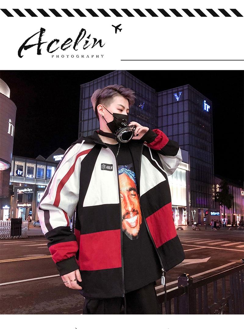 Autumn Spring Jacket Windbreaker Korean Men Hip Hop (1)