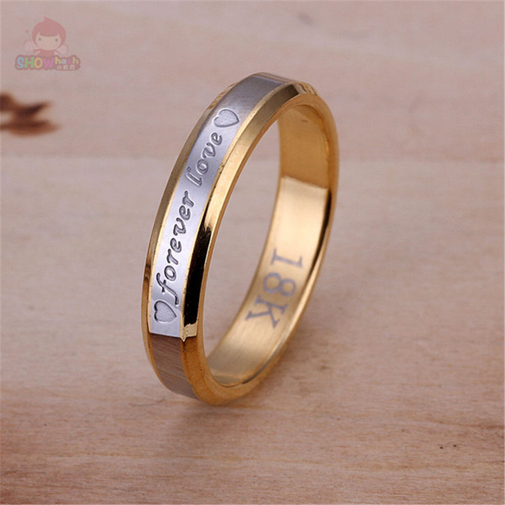 Hot Seller Generous Round Forever Love Trendy Cool Women Wedding Rings  Simple Design Lovely Fashion Gifts