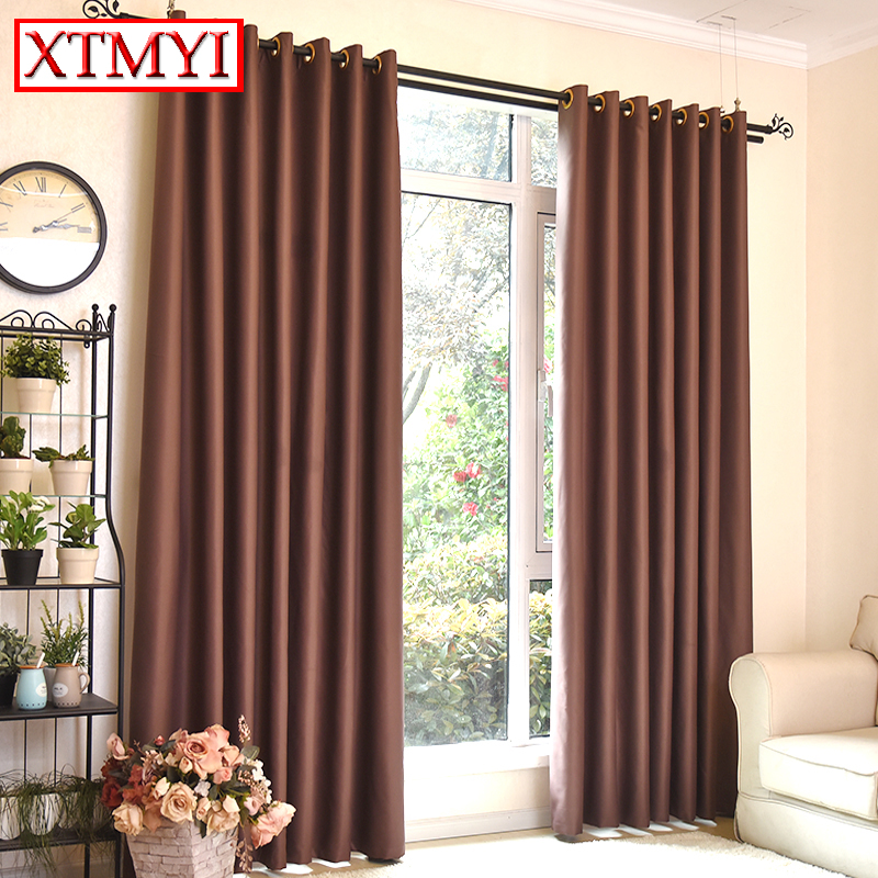 Modern Blackout Window Curtains Drapes For Bedroom Living Room Kitchen  Brown/ Red/ Wine/ Biege Solid Colors