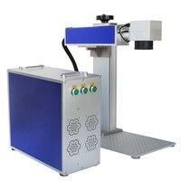 20W 30W Flying Ring Portable Mini Laser Marking Machine Small Raycu Fiber 3d Crystal Laser Engraving Glass Logo Printing Machine