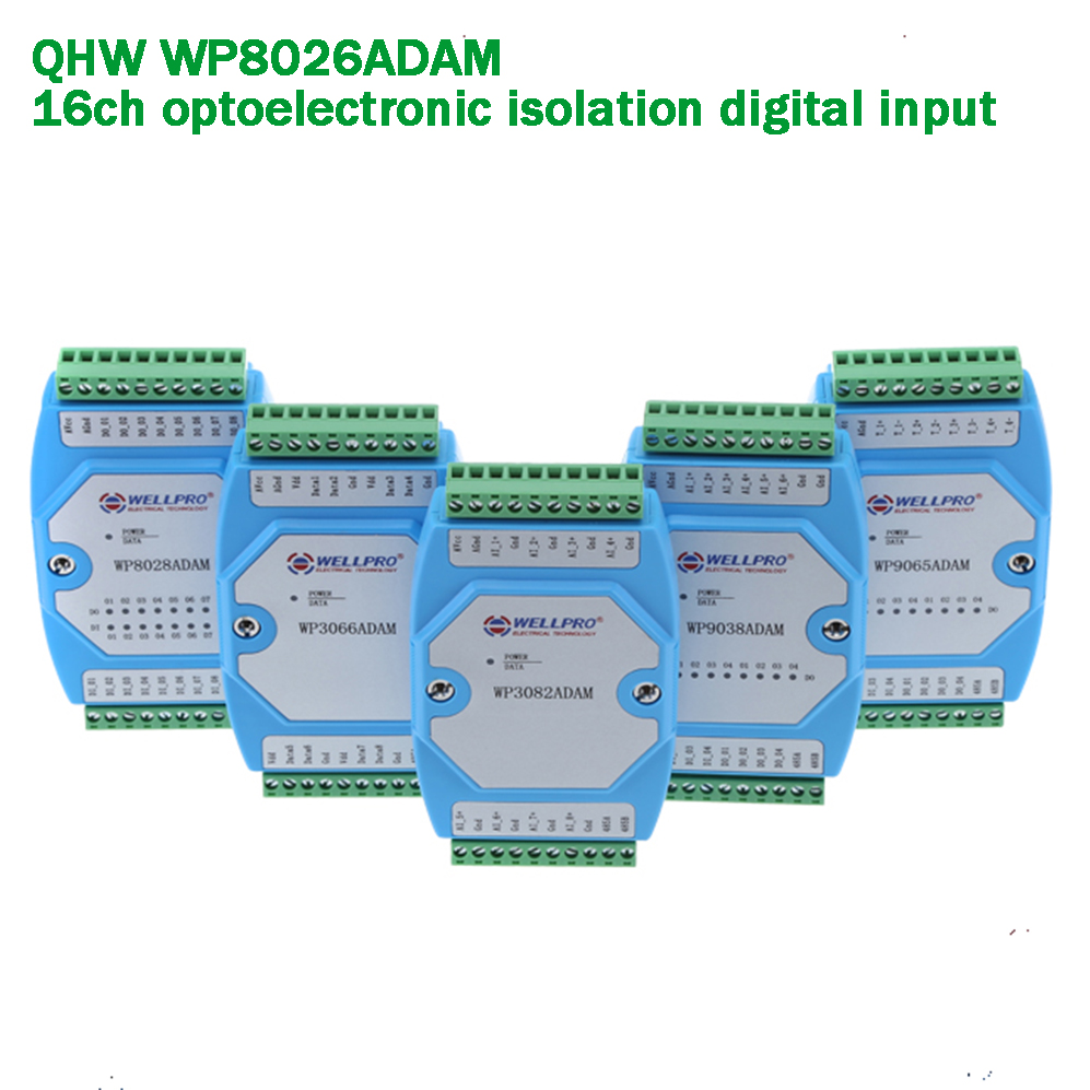 16 Channels Digital Input Module With Optocoupler Isolated RS485 Port Support Modbus RTU For Industrial Singal Collection