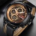 Мужские часы Лидирующий бренд люксовый бренд NAVIFORCE повседневные кварцевые часы мужские кожаные спортивные наручные часы водонепроницаемы...