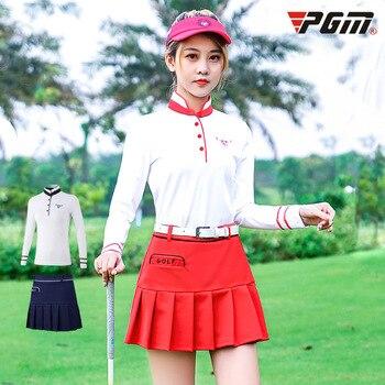 PGM autumn winter golf apparel ladies long sleeved T-shirt short skirt women Golf suit sportswear