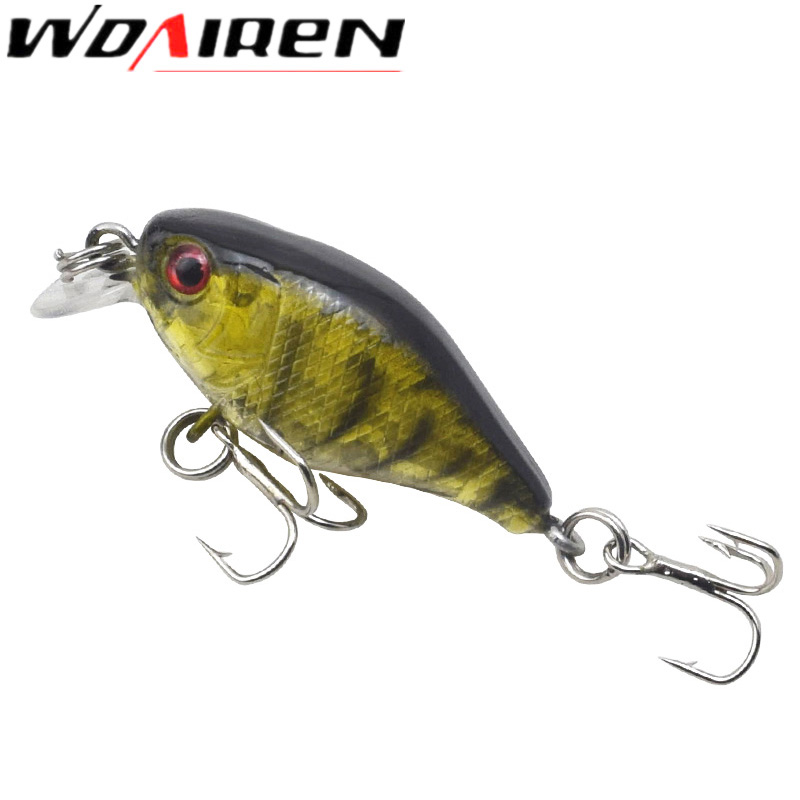 1Pcs Swim Fish Top water Wobbler Fishing Lure 4.5cm 4.5g Artificial Hard Crank Bait Japan Mini Fishing Crankbait lure WD-382 1pcs swim fish top water wobbler fishing
