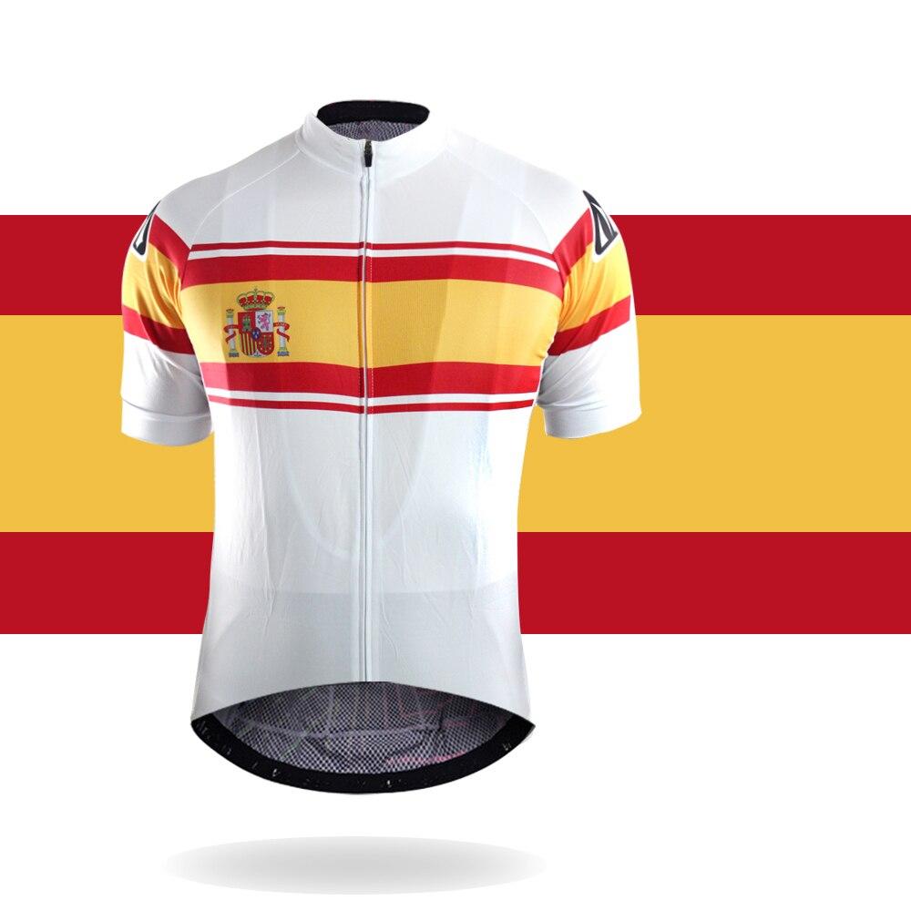 Racmmer 2018 país modelo Ciclismo Jersey verano MTB Bicicletas ropa maillot ciclismo ropa deportiva # dx-05