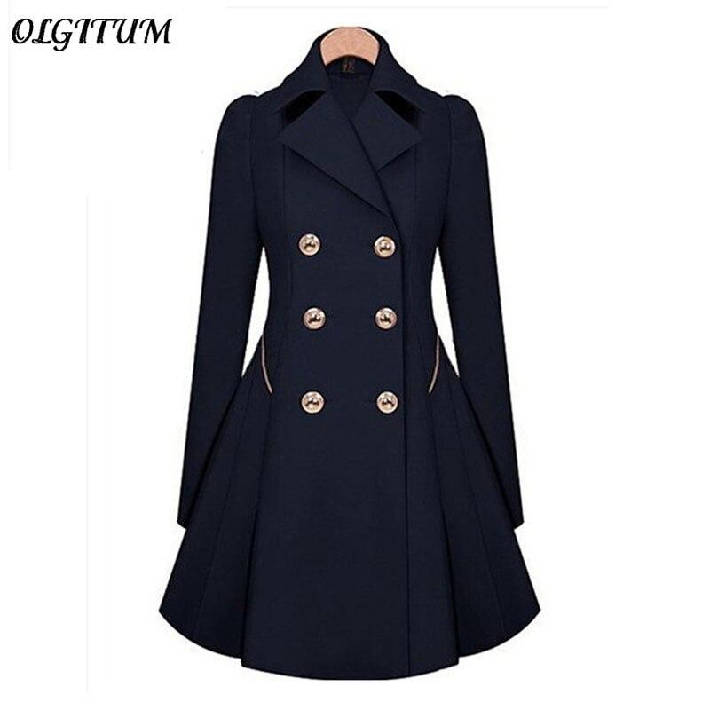 Hot Sale New 2017 Spring Autumn Trench Coat Women Classic Slim Thin Coat Windbreaker Fashion Trench