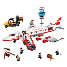 Gudi City Large Passenger Plane Aircraft model Building Blocks Bricks Action Figures Creator  Toys for Children fun children s building blocks toy compatible with legoes large aircraft carrier assembly model children s building blocks toys