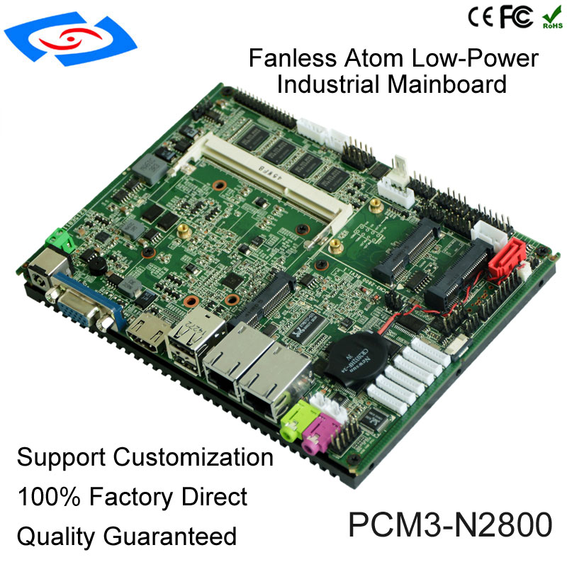 2018 Factory Price Fanless Intel Atom N2800 Industrial Mainboard With DC 12V For Car PC Motherboard