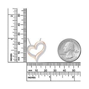 Image 5 - 925 sterling srebrne dla zakochanych naszyjnik z błyszczącą cyrkonią wysokiej jakości różowe złoto moda damska biżuteria dla dziewczyny najlepszy gif