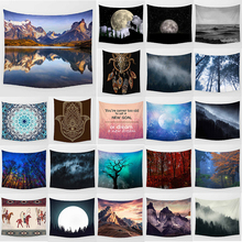 Unicorn tapestry lake mountain wall hanging home decoration large rectangle bedroom