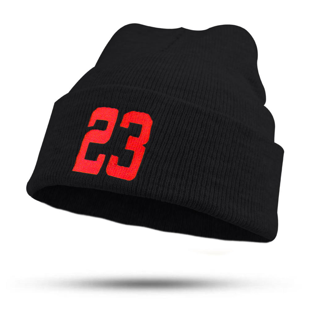2017 Fashion Letter 23 Embroidery Hat for Women Girls Men Boys Knitted Hats Female Autumn Winter Beanies bonnet Skullies Caps fine three dimensional five star embroidery hat for women girls men boys knitted hats female autumn winter beanies skullies caps