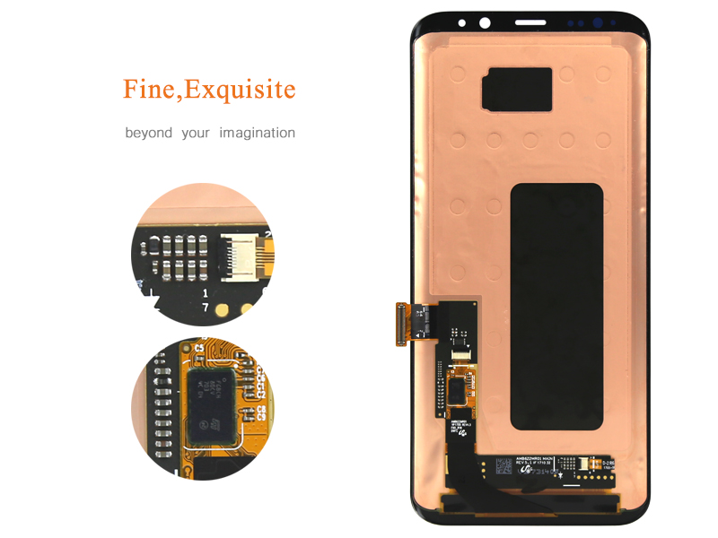 1 unids oem 6.1 pulgadas del teléfono móvil lcd para samsung s8 además de la Exh