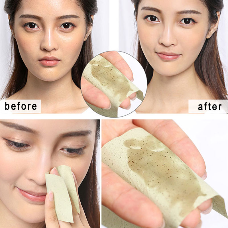 100sheet/pack Tissue Papers Green Tea Smell Makeup Cleansing Oil Absorbing Face Paper Absorb Blotting Facial Cleanser Face Tool#