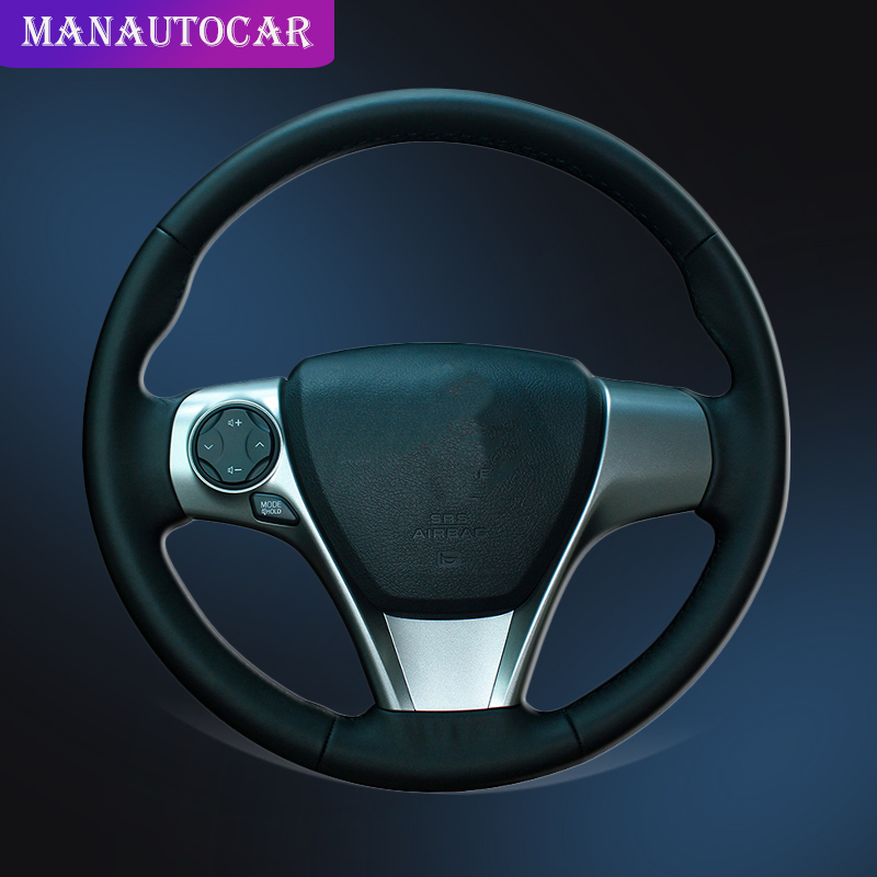 Car Braid On The Steering Wheel Cover for Toyota Camry 2012 2013 2014 Venza 2013 2014 2015 Interior Auto Steering Wheel Covers in Steering Covers from Automobiles Motorcycles