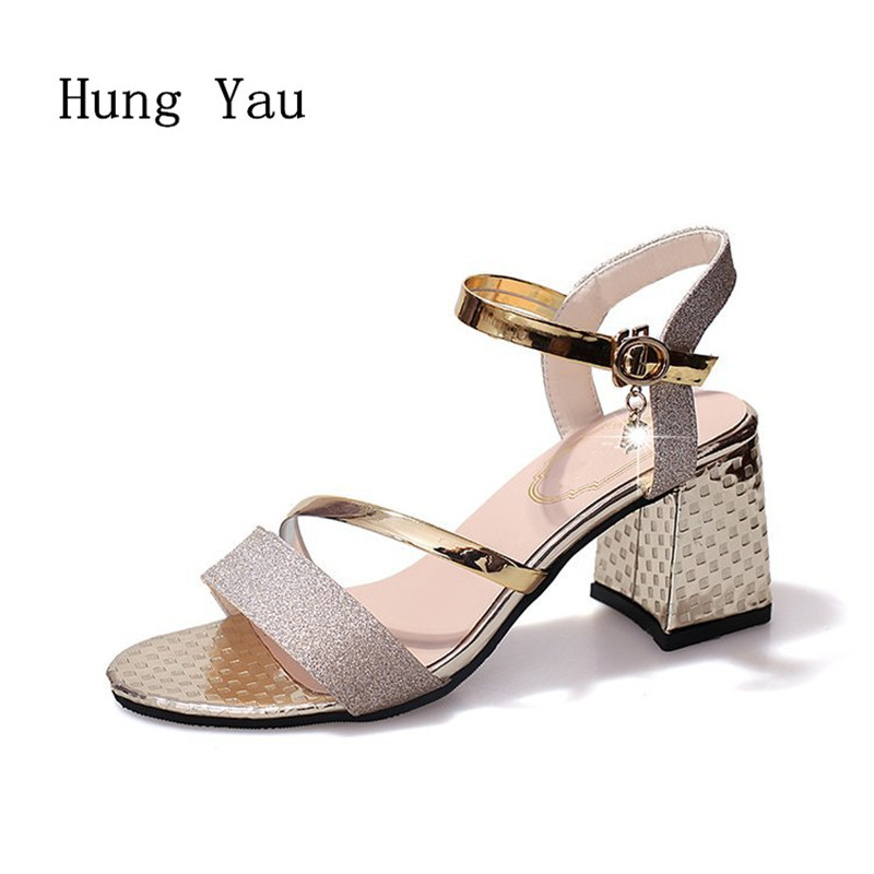 Woman Sandals Shoes 2018 Summer Style Wedges Pumps High Heels Buckle Strap Gladiator Sandals Shoes Women Fashion Slippers Shoes bronze silver gold buckles shoes slippers sandals shoes strap laces clothing bag 8mm belts buckle clip 500pcs lot free shipping