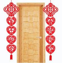 Cammitever 1 par chinês fonte do casamento dupla felicidade couplet porta pendurado decoração de casamento em casa festa festival