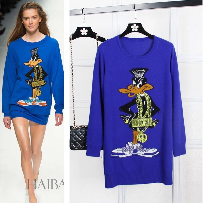 high end custom font b Women s b font font b sweaters b font Fashion duck