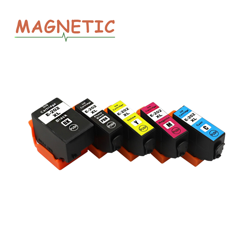 5pc Compatible Ink Cartridge Replacement for <font><b>EPSON</b></font> T202 T202XL Compatible with <font><b>epson</b></font> XP-6000/XP-6005/XP-6001 image