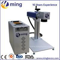 Rotary fiber laser marking machine/ China fiber laser engraving machine/ fiber metal making machine