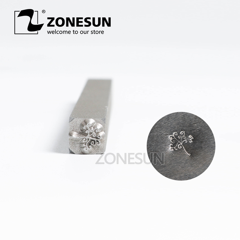 ZONESUN Hardness Customize Jewelry Buckle Mark Hit Stamp Tool Ring Bracelet Earring Steel Punch Stamp Mold