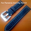 22 MM 24 MM 26 MM esmerilado azul oscuro Retro suave compañero de cuero genuino correa de reloj de correa para PAM y gran reloj, Shiping libre