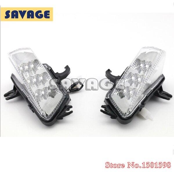 Accesorios de la motocicleta led frontal de señal de vuelta luz indicadora para