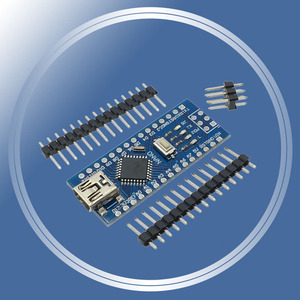 Image 1 - 5Pcs/Lot Mini USB Nano 3.0 Atmega328P atmega328 Controller for Arduino CH340 CH340G 5V 16M Board Module With Pins