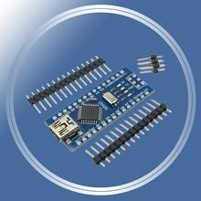 Controlador para arduino, 5 pçs/lote mini usb nano 3.0 pro atmega328 ch340 ch340g 5v 16m placa módulo com pinos