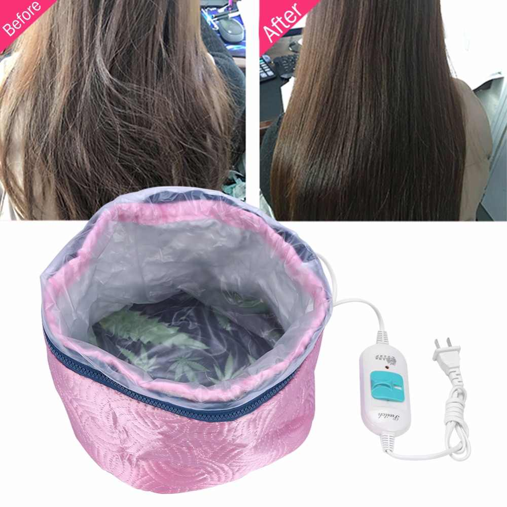 Hair Mask Baking Oil Cap Thermal Treatment Heating Cap Temperature Controlling Protection Electric Hair Steamer Mask Cap 220V