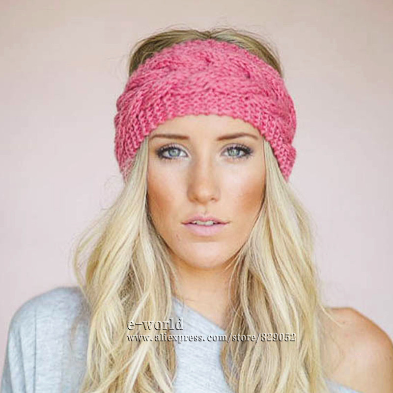 23 colors knitted turban headbands for winter warm 23 colors knitted turban headbands for winter warm