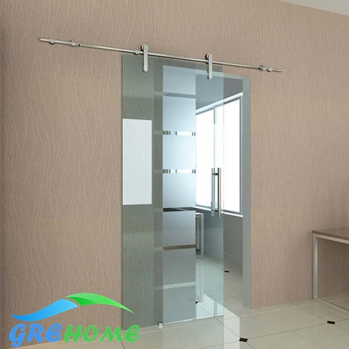 6 6 ft 304 stainless steel glass barn sliding door for Six foot sliding glass door