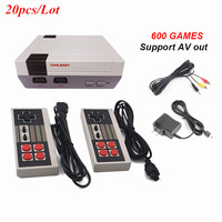 20Pcs/Lot Video Game Console AV Output To TV Handheld Game Player Built in 600 Retro Classic Games Dual Handheld Gamepads