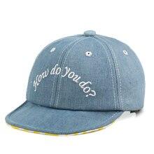 7bb36c04146 New Fashion Denim Hole Baseball Caps Hat For Kids Boys Girls Embroidery  Letters Snapback Cap Summer
