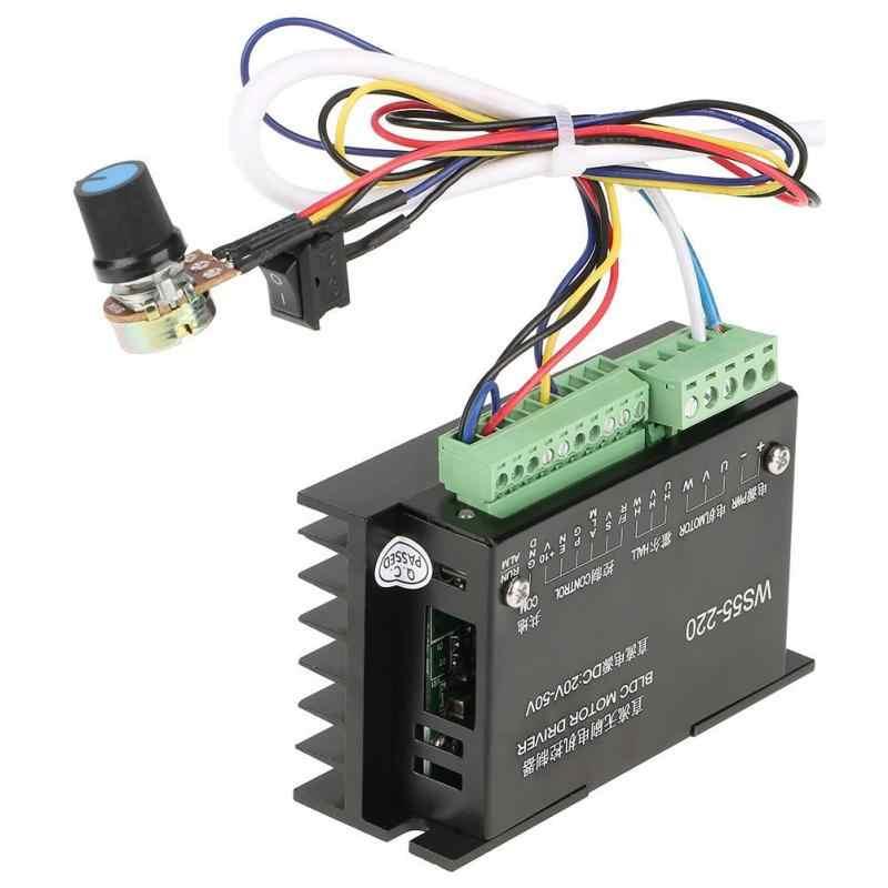 WS55-220 DC moteur pilote contrôleur 48 V 500 W CNC sans brosse broche BLDC moteur pilote contrôleur 20000 tr/min