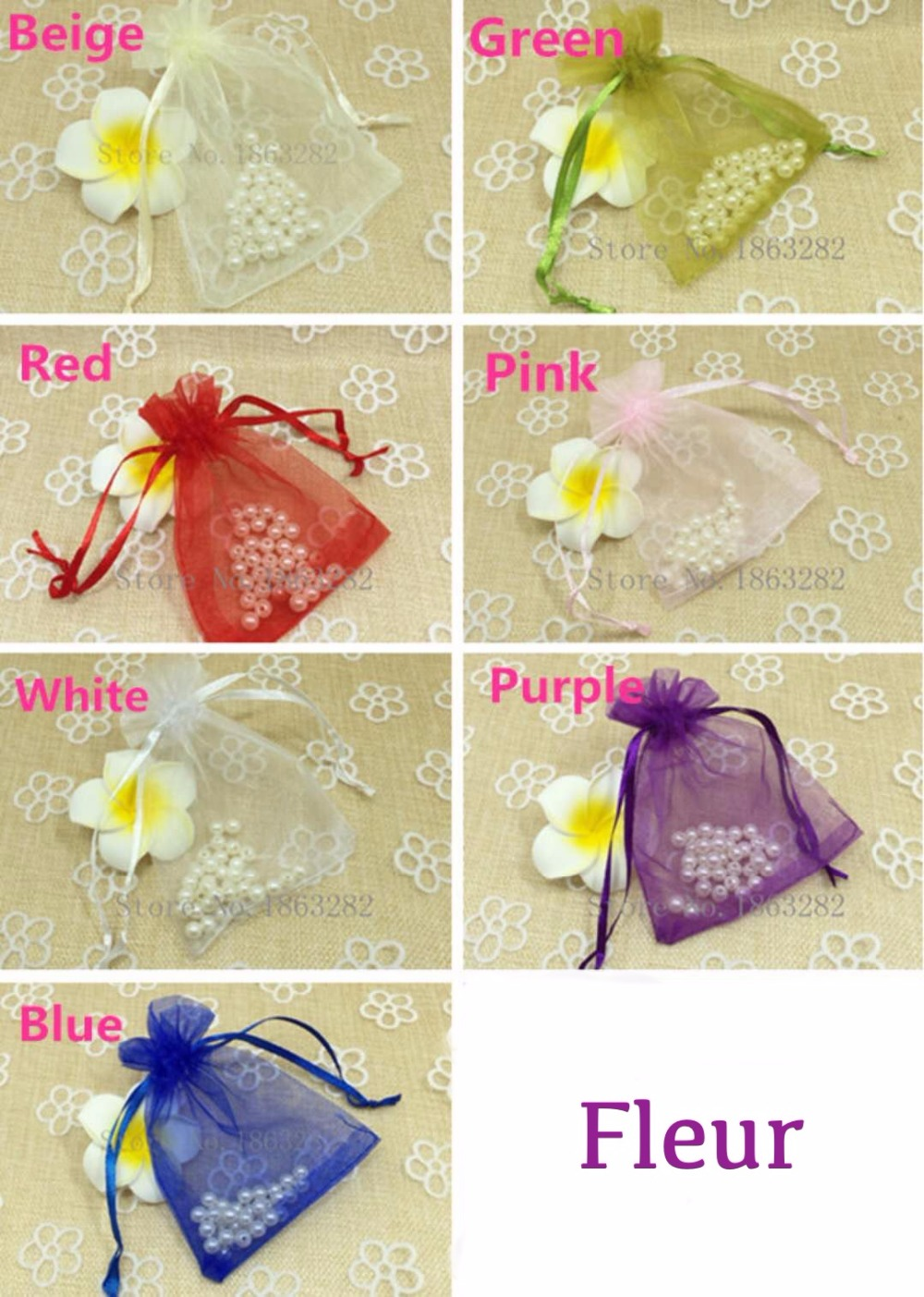 Lowest price 8x10cm 7 Colours Mixed Organza bags Wedding Gift candy jewellery Pouches Christmas decoration birthday giveaways