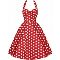 De las mujeres del verano vintage dress casual vestidos 50 s traje retro polka dot rockabilly columpio pinup partido atractivo backless dress plus tamaño