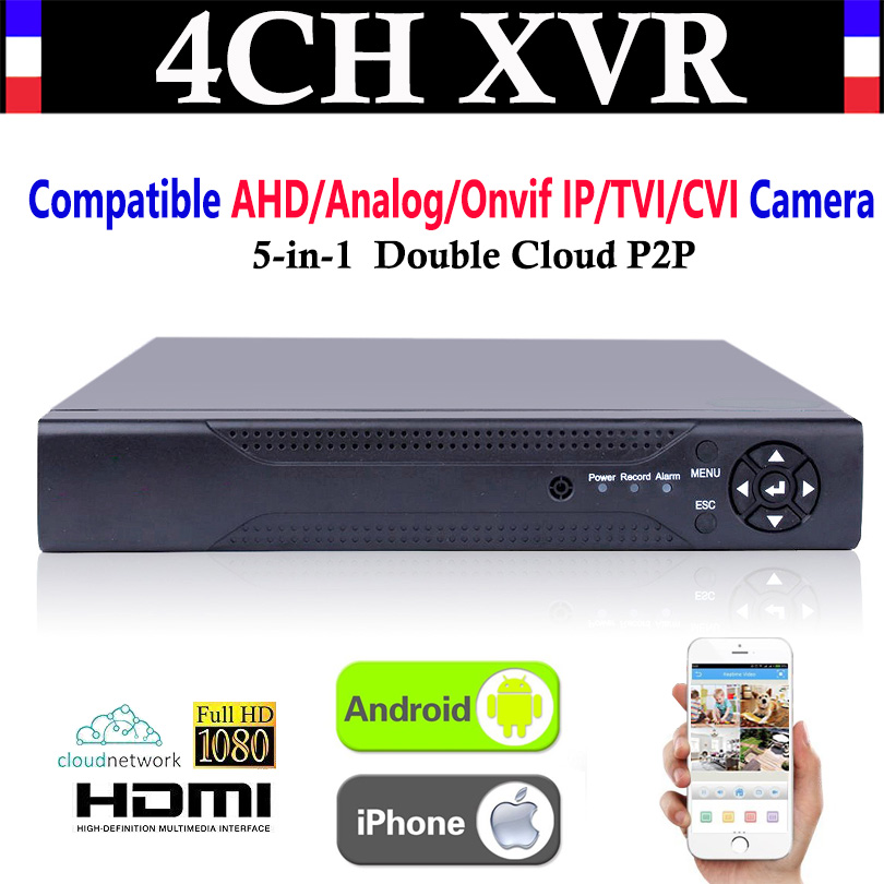 Upgrade CCTV 4CH Channel 1080P NVR AHD TVI CVI DVR+1080N 5-in-1 Video Recorder Compatibile AHD/Analog/Onvif IP/TVI/CVI Camera new 4 ch channel h 264 home network 5 in 1 mini cctv 1080p hdmi ahd tvi cvi dvr onvif nvr p2p security video recorder systems