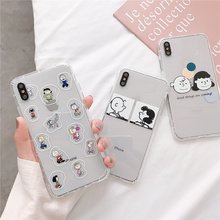 Cartoon character Peanuts Charlie Brown Lucy 6s 6 case for iphone8 8plus phone cover iphone 8 7 plus x xr xs max Anti-fall