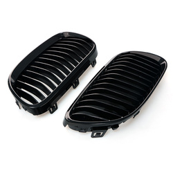 1 para maskownica do BMW serii 3 E92 E93 10-14 połysk czarny samochód Front Center szeroki nerek Grill Racing Grill samochód stylizacji