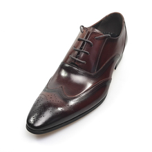 GRIMENTIN italian dress men genuine leather red black lace up business shoes