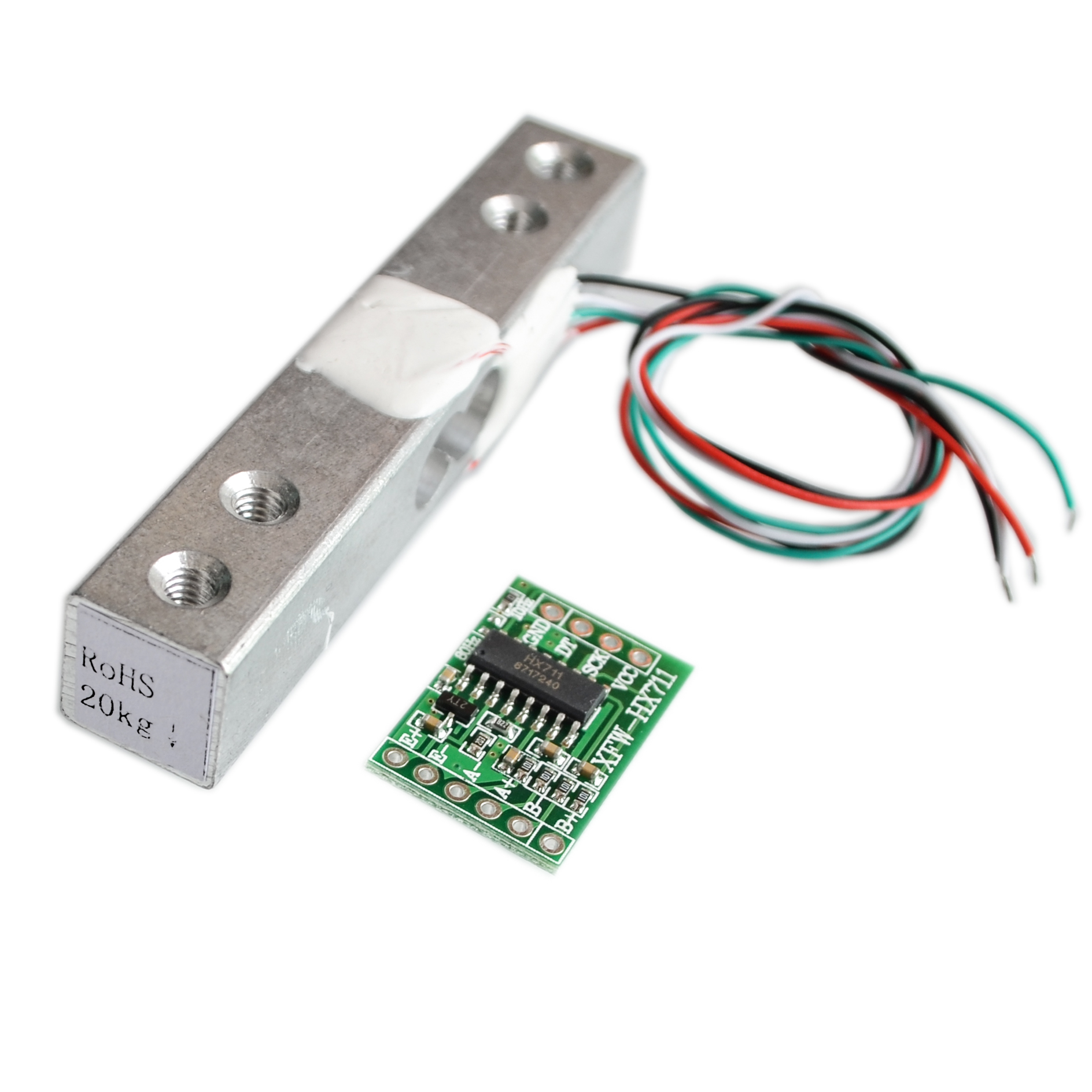 Digital Load Cell Weight Sensor 20KG Portable Electronic Kitchen Scale + HX711 Weighing Sensors Ad Module for Arduino electronic component