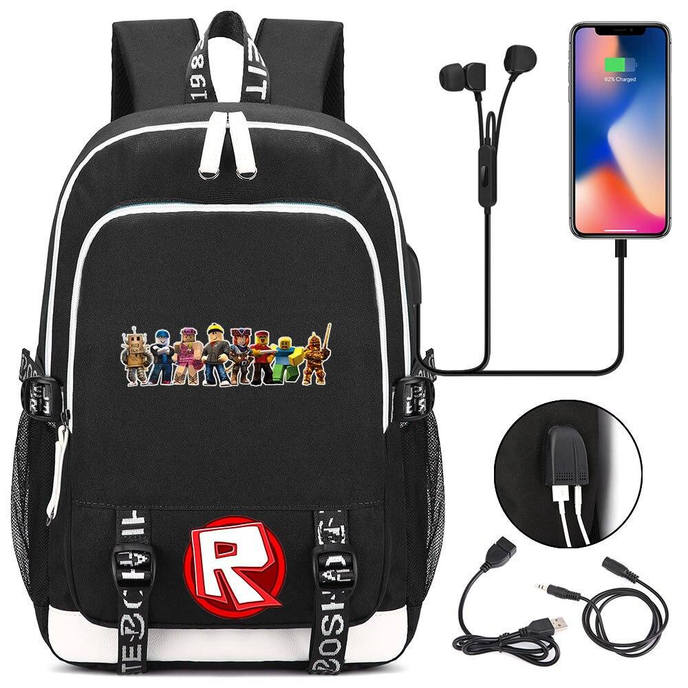 Hot Game Roblox USB Backpack Laptop Bags Cosplay Cartoon Kids Teens Shoulder Travel Bags Student School BagHot Game Roblox USB Backpack Laptop Bags Cosplay Cartoon Kids Teens Shoulder Travel Bags Student School Bag