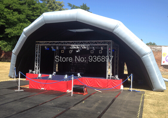 Free shipping Inflatable stage tent cover marquee outdoor events tent 6 8x4x3 4m oxford cloth inflatable stage tent inflatable stage cover inflatable canopy tent for concert with free shipping