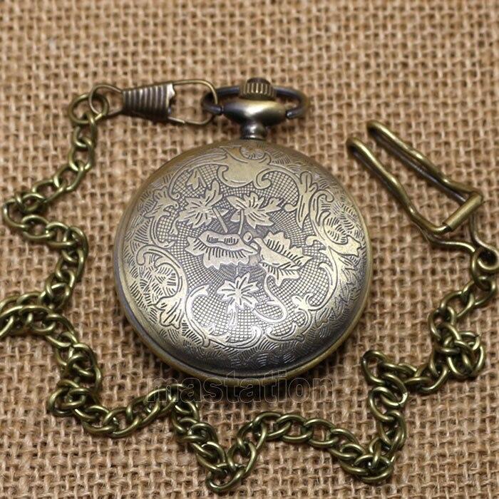 Новое поступление, коллекционная цепочка, большой размер, грудь для папы, рождественские подарочные карманные часы P38C